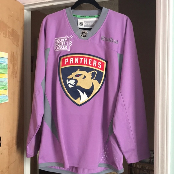 Florida Panthers Cancer Hockey Jersey Breast fbdfabebba|Recalled From Tr